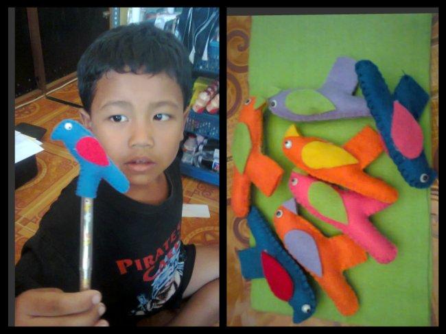 Cara Membuat hiasan Pensil  bentuk Burung  suka suka izzah